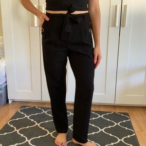Calvin Klein belted pleated dress pants